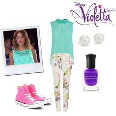A fashion look from July 2015 featuring Karen Millen tops, Ted Baker jeans and Converse sneakers. Browse and shop related looks. Unique Outfits, Outfits For Teens, Casual Outfits, Cute Outfits, Violetta Outfits, Violetta Disney, Ted Baker Jeans, Jeans And Converse, Converse Sneakers