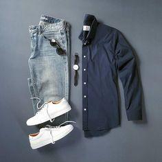 909 отметок «Нравится», 3 комментариев — Mens lifestyle 247 (@menslifestyle247) в Instagram: «Relaxed Casual Outfit - - Shirt:@pacificissue Denim:@flagandanthem Brattleboro…»