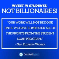 Students should not be used to make a profit.