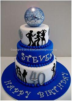 70s Disco theme birthday cake  Sylvia ...nice   60pp 790