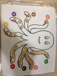 Cheerio art octopus