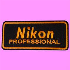 Nikon-Professional-Camera-Logo-Photographer-Jacket-Bag-Iron-On-Embroidered-Patch
