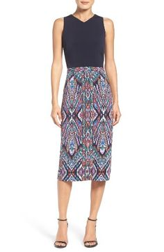 Free shipping and returns on Maggy London Scuba Midi Dress at Nordstrom.com. Update your wardrobe with this sophisticated, longline dress brightened with a vibrant boho motif.