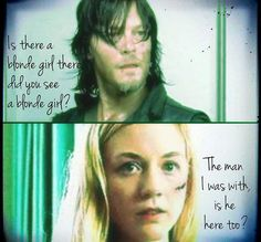 Beth Greene and Daryl Dixon, The Walking Dead (Bethyl) Norman Reedus and Emily Kinney