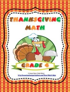 Thanksgiving Math - This Thanksgiving math packet has games and activities that are perfect for 4th grade Common Core centers and math skill practice! Available for 3rd, 4th, and 5th grades. $