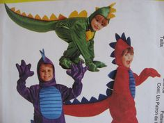 McCall 2336 Halloween costume Dinosaur discontinued.  I like the claws and feet.