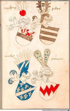 Bruderschaftsbuch des jülich-bergischen Hubertusordens Niederrhein, um 1500 Cod.icon. 318  Folio 34r