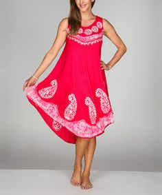 Look what I found on #zulily! Pink Paisley Sleeveless Shift Dress by Ananda's Collection #zulilyfinds