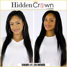 Our Hidden Crown Hair Extensions work for all kinds of hair, including ethnic hair! Take a look a Shauna's gorgeous before and after in the picture below.  www.hiddencrown.com(800×800) Hidden Crown Hair Extensions, Extensions Hair, Ethnic Hairstyles, Crown Hairstyles, Take That, Color, Weave Hair Extensions, Colour, Colors