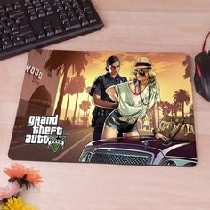 GTA V Grand Theft Auto Grand Theft Auto V Rockstar Games Mousepad Mouse Pad pc mac laptop notebook usb