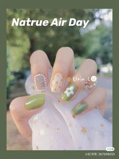 Chic Nails, Stylish Nails, Trendy Nails, Korean Nail Art, Korean Nails, Nail Drawing, Soft Nails, Vintage Nails, Finger Nail Art