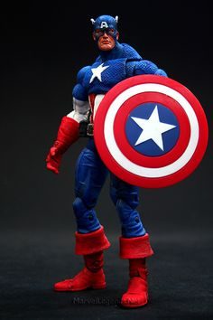 Marvel Legends Face Off Series 1 Captain America // Pinned by: Marvelicious Toys - The Marvel Universe Toy & Collectibles Podcast [ m a r v e l i c i o u s t o y s . c o m ]