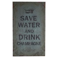 Save Water Wall Decor