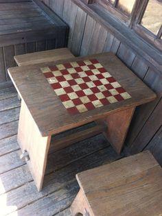 Merveilleux Hidden Checker Board Table At Disneyland.