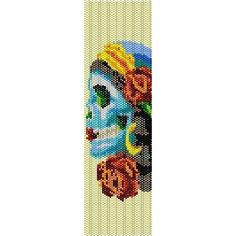 Sugar Skull Candy - beading cuff bracelet pattern for peyote or loom (Buy Any 2 Patterns - 3rd. FREE) - pdf. $4.00, via Etsy.