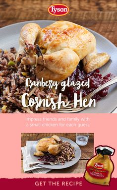 Frugal Food Items - How To Prepare Dinner And Luxuriate In Delightful Meals Without Having Shelling Out A Fortune Tyson Cornish Hens Make A Perfect Holiday Dinner For Family And Friends. Tap The Pin To Get The Recipe. Turkey Recipes, Keto Recipes, Chicken Recipes, Cooking Recipes, Healthy Recipes, Thanksgiving Recipes, Holiday Recipes, Dinner Recipes, Christmas Recipes