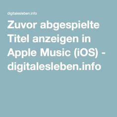 Zuvor abgespielte Titel anzeigen in Apple Music (iOS) Ios, Social Media