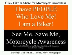 Motorcycle Awareness..Look Twice Save a Life!  Harley-Davidson of Long Branch  www.hdlongbranch.com