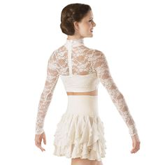 Lace Turtleneck Crop Top from Dancewear Solutions