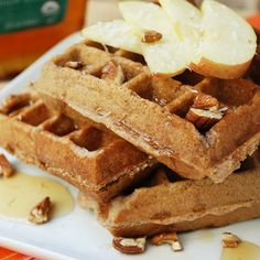 Everyday I'm wafflin! Try this #apple #coconut #waffles