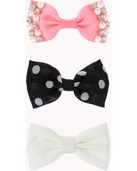 Forever 21 | Favorite Bow Hair Clip Set | Lyst