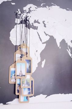 Picture tag map by Rotkehlchens. Click through for a roundup of 19 perfect DIY projects for travel lovers - all gorgeous, wanderlust-inspired and simple to make. #TravelIdeas