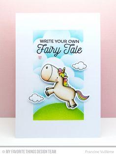 Magical Unicorns, Magical Unicorns Die-namics, Stitched Cloud Edges Die-namics - Francine Vuillème #mftstamps