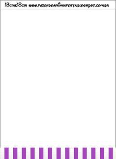 Roxo, Prata e Preto - Kit Completo com molduras para convites, rótulos para…