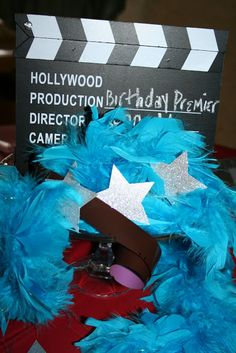 a Hollywood premiere birthday party with DIY ideas
