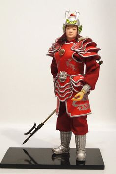 32cm tall Antique Chinese Military Officer General Warrior Commander Handmade-10