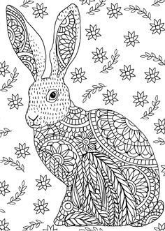 10+ Free Rabbit Coloring Pages for Adults Bunny coloring