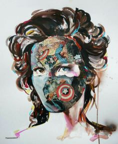 Sandra chevrier - collage and acrylic