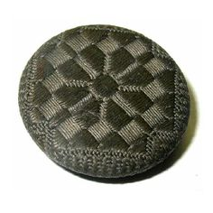 Antique Black Button Victorian Needlework Backmarked NB by xurple, $8.00