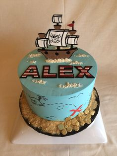 Birthday Cake | pirate | pirate ship | treasure map |