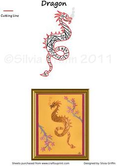 Dragon  on Craftsuprint designed by Silvia Griffin - Hope you will find many uses for this cute friendly dragon. Thank you for looking at my creations. - Now available for download!
