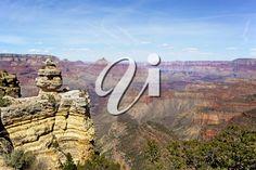 The South Rim of the Grand Canyon, Arizona, USA Purple Mountain Majesty, Arizona Usa, Royalty Free Images, Grand Canyon, United States, Waves, Sky, America, Stock Photos
