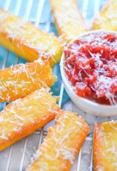 Cheesy Crispy Polenta Sticks