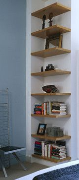 Chattanooga Street Duplex - Simple open end shelves - too open?