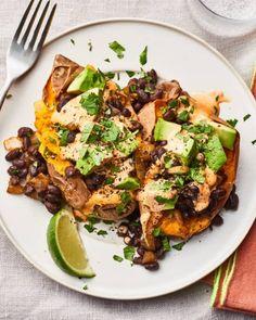 Recipe: Spicy California Roll Dip   Kitchn Good Sweet Potato Recipe, Sweet Potato Recipes, Potato Meals, Best Vegetarian Recipes, Vegetarian Dinners, Healthy Recipes, Veggie Recipes, Healthy Dinners, Vegetarian Burrito