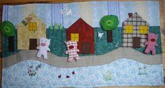 tapis de conte, les trois petits cochons