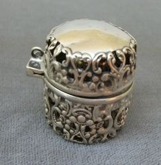 Thimbles were so cherished they were kept in cases! Webster Sterling Thimble Case w/Sterling Thimble; early 1900's