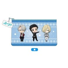 A Nendoroid Plus pouch from Yuri!!! on Ice!From Yuri!!! on Ice comes a pouch featuring the cute Nendoroid illustrations of the characters from the series! A small, cute charm is also included with the pouch!  #tokyootakumode #cosplay #Yuri!!!_on_Ice