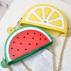 Summer PU Leather Cute Fruit Chain Shoulder Messenger Lemon Watermelon Strawberry Bag //Price: $12.97 & FREE Shipping  worldwide//     #looxyshop #style #outfit #ootd #love #girly #selfieday #instalike #dress #simplestyle