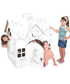 Look at this #zulilyfind! Country Cottage Play Structure by Box Creations #zulilyfinds