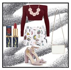 Untitled #23 by thefaang on Polyvore featuring Moschino, JustFab, Miss Selfridge, J.Crew, NightOut, party and Sexy