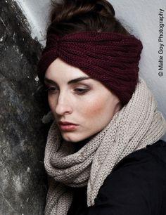Stirnband TURBAN (Schickes Stirnband aus Wolle) von Zebratod