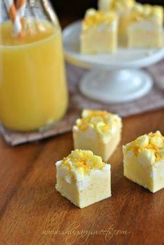Copycat Orange Julius Fudge | Love this easy fudge recipe!