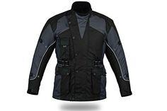 Prix incroyable Mega Solde 73% en moins ! Blouson de moto renforcé CJ1019 - imperméable - doublure thermique/aérée - gris - taille XL (EU…
