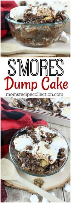 S mores Dump Cake Dessert Recipe Mom s Recipe Collection familyrecipes kidsrecipes easyrecipes recipes Dump Cake Recipes, Dessert Cake Recipes, Köstliche Desserts, Summer Desserts, Frosting Recipes, Sweet Desserts, Dessert Simple, Recipe For Mom, Mom's Recipe
