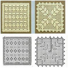 x crochet file Crochet Coaster Pattern, Crochet Motif Patterns, Filet Crochet Charts, Granny Square Crochet Pattern, Crochet Blocks, Crochet Squares, Crochet Table Runner, Crochet Tablecloth, Crochet Doilies